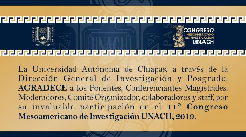 Te invitamos a consultar en la Revista Digital, el Resumen de Ponencias del 11° Congreso Mesoamericano de Investigación UNACH 2019