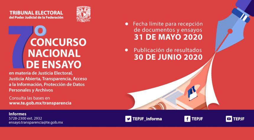 RECEPCIÓN DE DOCUMENTOS: 31 DE MAYO DE 2020